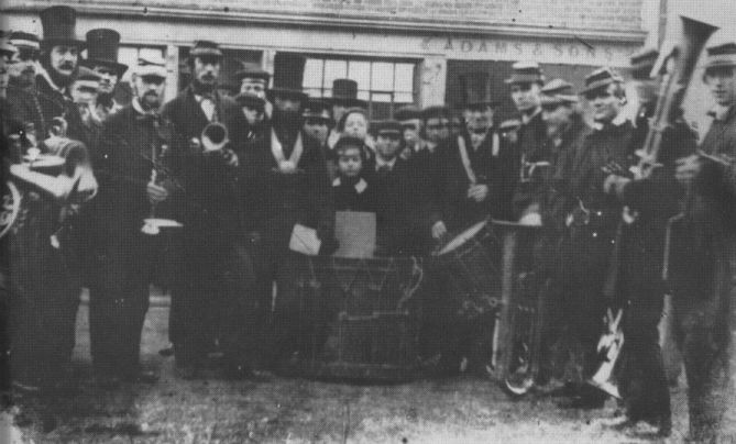 A band in front of Adam&Sons in 1862 courtesy of IBEW